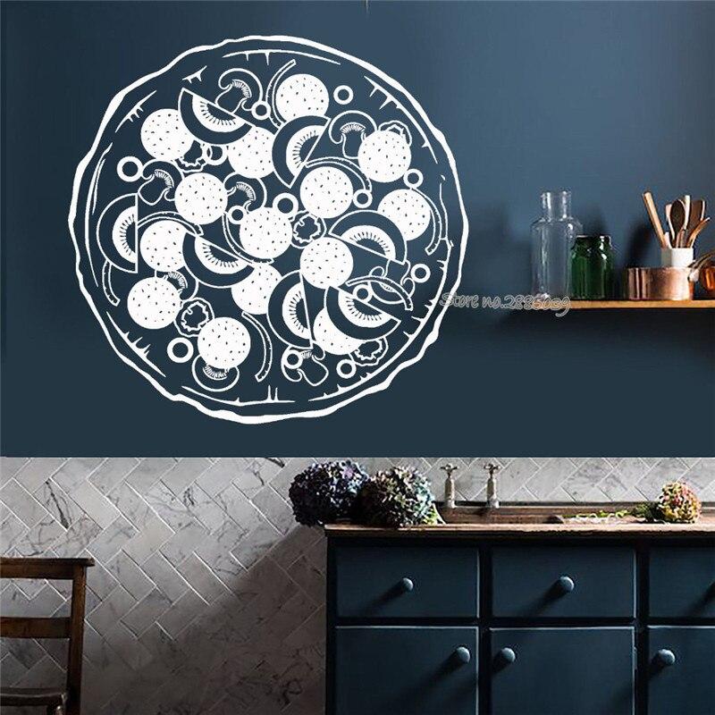 Italia Food Pizza Wall Decal Vinyl Kitchen Restaurant Art