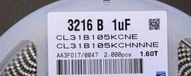 Gratis frete chip capacitores 1206 1 UF 100 V 105 K 10% X7R CL31B105KCHNNNE 2000pcs