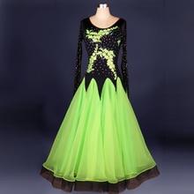 Blue/green/red/yellow/black ballroom dance costume women one-piece Dress for Morden Dance Tango waltz ballroom dance wear