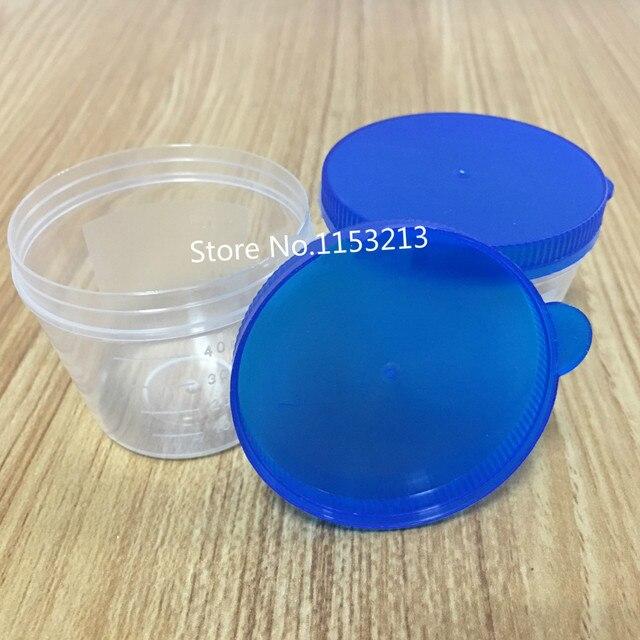 100pcslot 40ml plastic vials hand press cover plastic urine container cup pp sputum cup