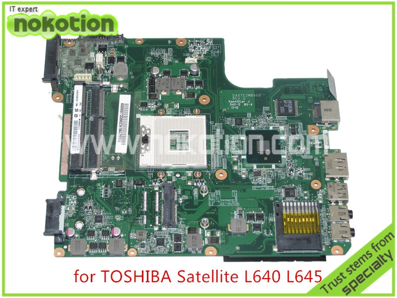NOKOTION A000073390 DA0TE2MB6G0 REV G For toshiba satellite L640 L645 laptop motherboard intel HM55 HD graphics k000055760 laptop motherboard for toshiba satellite a200 a205 iskaa la 3481p rev 2a intel gl960 ddr2 without graphcis slot