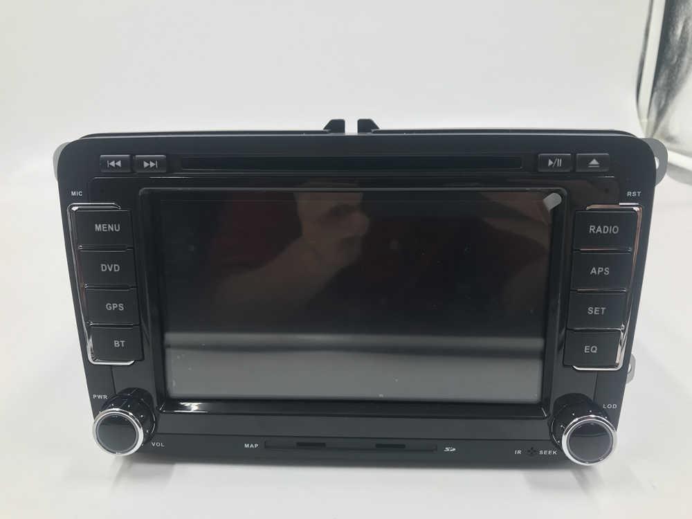BYNCG samochodu ODTWARZACZ DVD nawigacja GPS 2 Din 7 ''multimedialnych radioodtwarzacz samochodowy kamera cofania FM mapę, aby Passat/POLO/ GOLF/Skoda/Seat