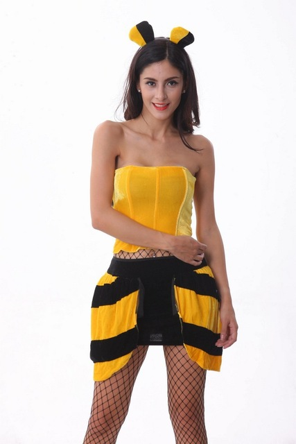 sexy animal costumes for women queen bee insect bug adult sexy animal themed halloween costume party