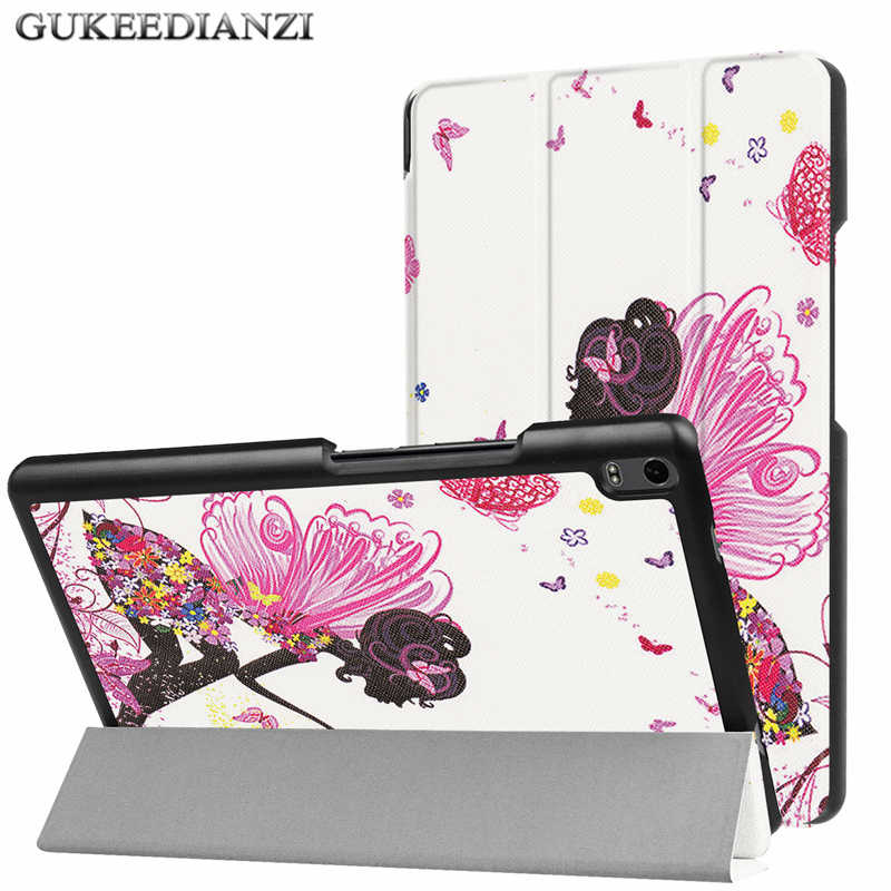 GUKEEDIANZI PU Leather Cover Voor Lenovo tab4 8 Plus TB-8704F TB-8704N TB 8704F 8704N 8 inch folding Folio Stand Tablet case