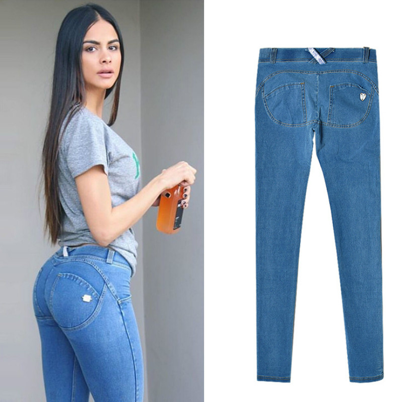 Jeans Femme Taille Basse Elastic Waist Jeggings Jeans Mujer Push Up Slim Skinny Women High Stretch Legging Pencil Pants