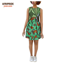 2018 summer 2 pieces skirt set for women AFRIPRIDE sleeveless top_above-knee length casual 100% cotton A1826021