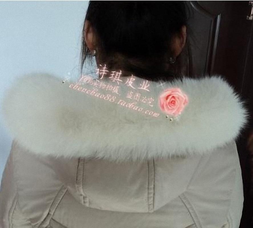 10 Colors Genuine Fox Fur Detachable Collar Scarfs Fashion Coat Sweater Detachable Jacket Luxury Fur Collar C002-beige