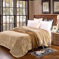 Домашний текстиль Флисовое одеяло плед супер мягкий кофе в японском стиле бросок на диван/кровать/Самолет путешествия пледы стеганые покры...