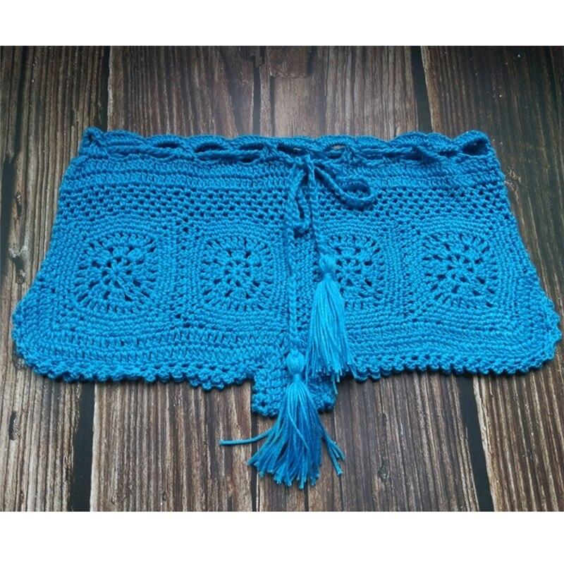 Boho Knit Crochet Beach Shorts 14