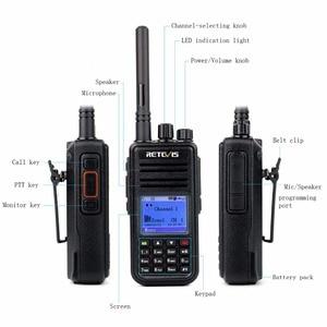 Image 3 - Retevis rt3 dmr rádio digital (gps) walkie talkie uhf (ou vhf) ham rádio amador handheld transceptor mesmo com tyt md 380 MD 380