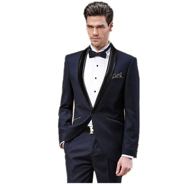81689f60d8f custom made Ball Gown Male Groom mens suit Wear Men s Party Suit Dress 2017  Top Quality Slim Fit navy Blue wedding suits for men