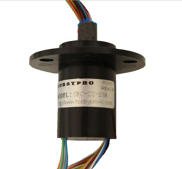 Medium Size 24 Channel 2A Slip Ring for Robot/Stage lights Parts Accessories Dia. 22mm UAV Drone slip ring