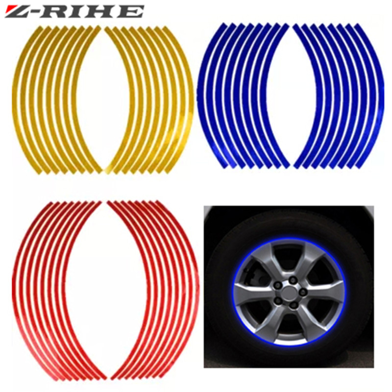 New 17/18 Inch New Flame Reflective Rim Tape Wheel Stripes Stickers Vinyl Decal Car For yamaha honda suzuki kawasaki ktm 200/300
