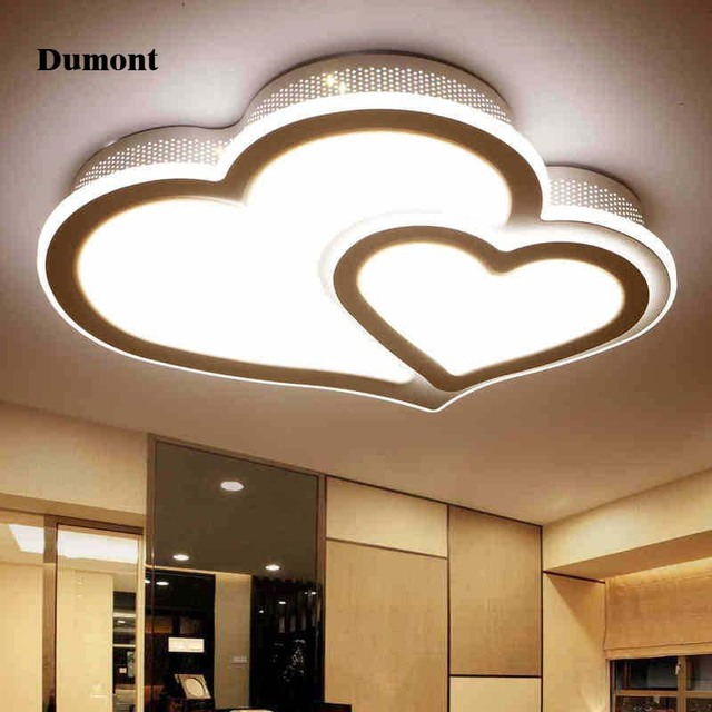 Minimalist Style Creative LED Ceiling Lamps Romantic Wedding Room Creative  Heart Shaped Small Bedroom Lamp