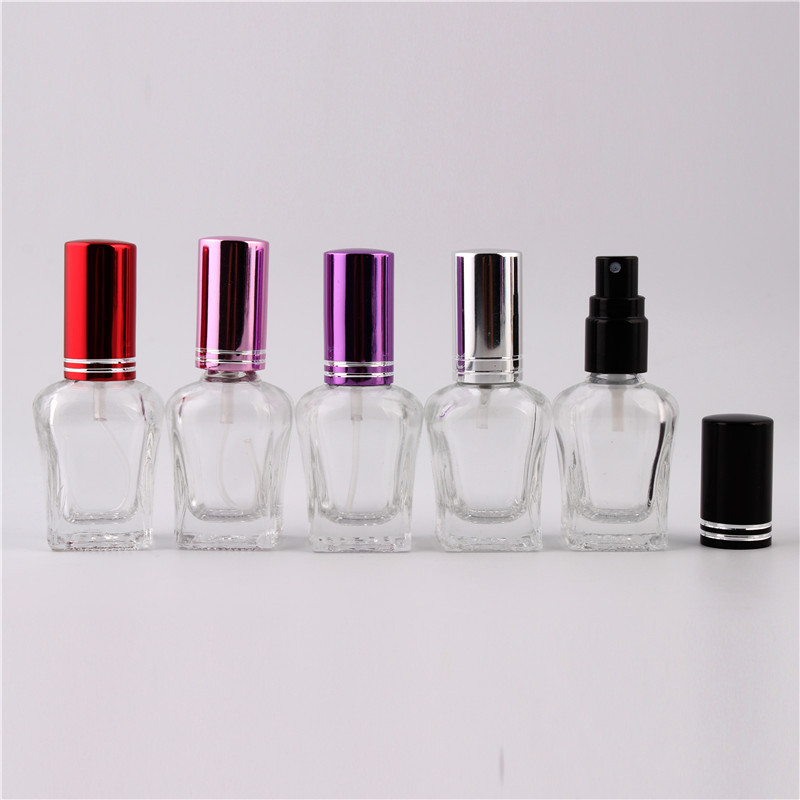 Fashion 9Color 10ml Atomider Perfume Bottle Liquid Tonic Essential Oil Bottles For Travel Clear Glass Empty Mist Spray Container 50pcs plastic ldpe squeezable dropper bottles eye liquid empty new 88 hjl2017