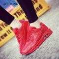 Los Hombres de la marca Casual Zapatos de Deporte Air Zapatillas Deportivas Zapatos Para Caminar Unisex Para Hombre Entrenadores Cesta Equilibrio Inferiores Rojos Negro