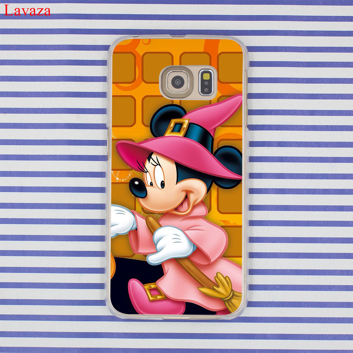 Lavaza Mickey Mouse and Donald Duck Hard Case Transparent for Samsung Galaxy S6 S7 S8 S9 Edge Plus S5 S4 S3 & Mini Cover