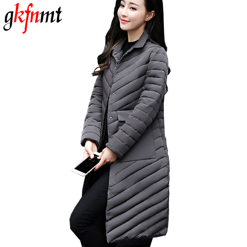 Gkfnmt 2018 Spring Jacket Women Fashion Womens Winter Coat Slim Long Sleeve Cotton Coats And Jackets Parka Warm Jacket Plus 3XL