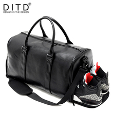 Large Capacity PU Leather Mens Travel Bag Fashion Handbag for Man Famous Brand camp Waterproof women Duffle bag