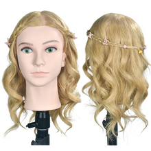 Female 16 Hairstyling Training Head Hairdresser Mannequin Model Natural Human Hair Styling Dolls With Clamp Sale