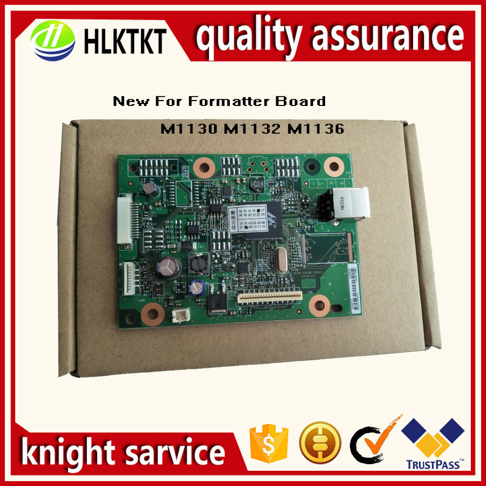 new CE831-60001 CB409-60001 Formatter Pca Assy Formatter Board For hp M1132 M1132NFP 1132 M1136 1136 M1130 1018 1020 MainBoard new ce831 60001 fit for laserjet pro m1130 1132 1136 mfp formatter board formatter board free shipping