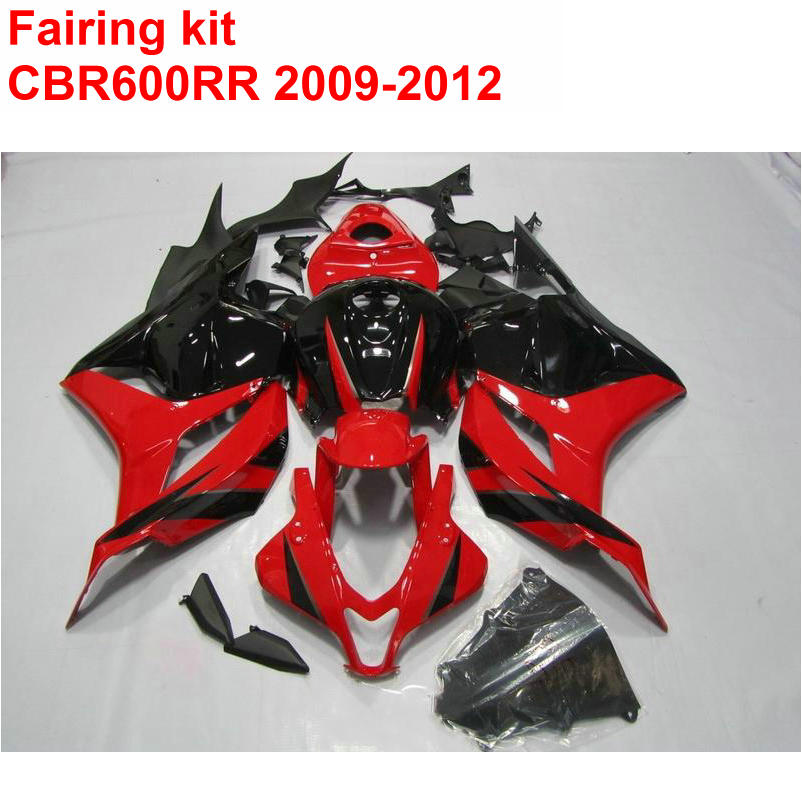 Injection mold Customize Fairing kit for HONDA cbr600rr 2009 2010 2011 2012 CBR 600 RR 09 10 11 12 red black fairings set LK64 arashi motorcycle radiator grille protective cover grill guard protector for 2008 2009 2010 2011 honda cbr1000rr cbr 1000 rr
