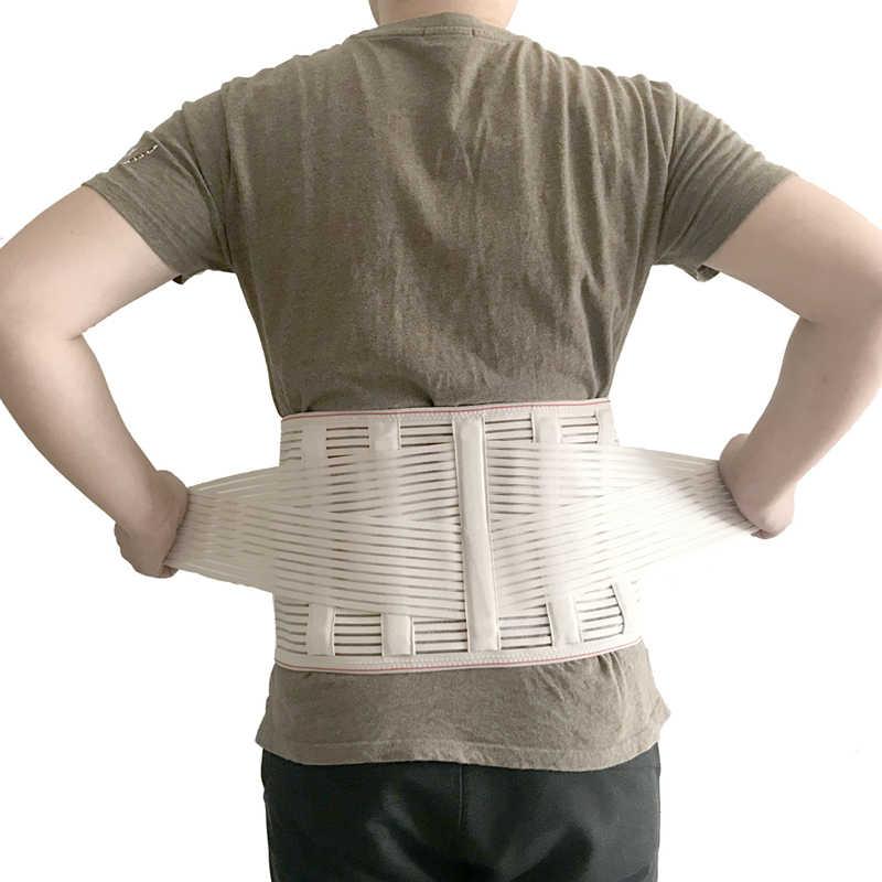 2019 tıbbi geri Brace bel kemeri omurga desteği erkek kadın kemerleri nefes lomber korse ortopedik cihaz geri Brace ve destekler