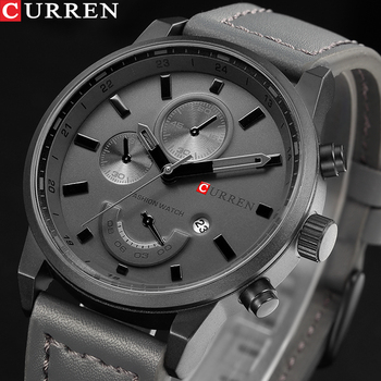 CURREN mannen Casual Sport Quartz Horloge Heren Horloges Topmerk Luxe Quartz-Horloge Lederen Militaire Horloge Mannelijke klok Drop