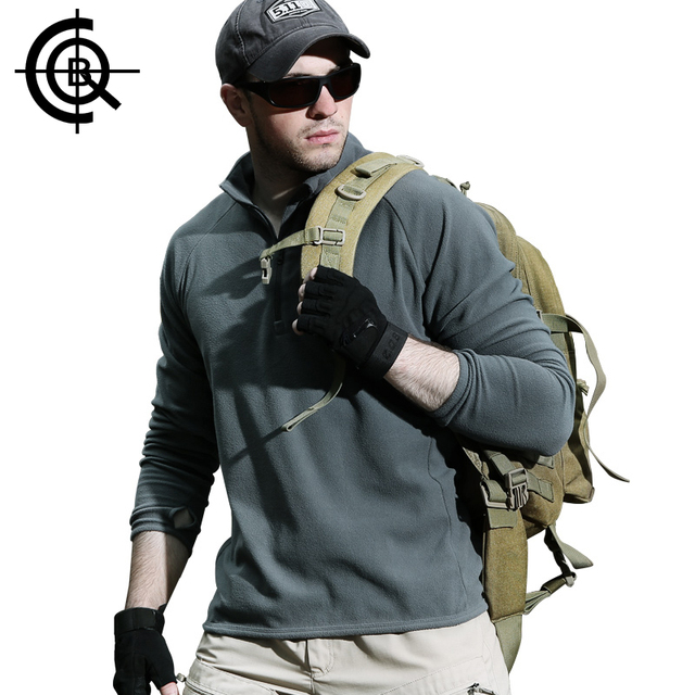 CQB Outdoor Pullover Fleece Jacket Sports Hiking Hunting Tactical Clothes Men Warmth Camping Male Anti