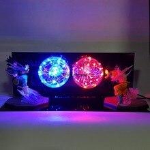 Lámpara de Dragon Ball Z, batalla entre Goku y Vegeta, con luces Led
