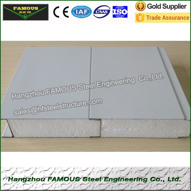 EPS Foam Sandwich Panel For Roofing And Wall Of Structural Steel Building