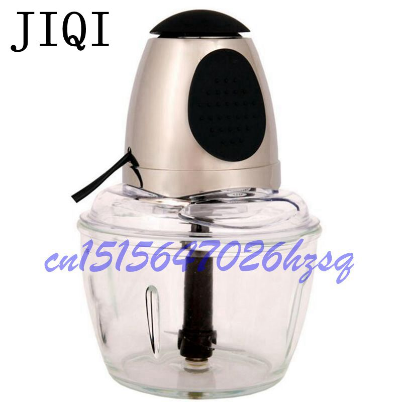 JIQI Household Electric Automatic MultiFunctional Kitchen Meat Grinder Vegetable Cutter Blender Food Cooking Mixer US plug jiqi household slicer cutter blenders multifunctional grinder fruit and vegetable cutters water ice salad maker with 5 cutters
