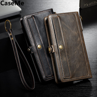 CaseMe For Samsung Galaxy S8 Case Cover Luxury Retro Leather Silicone Wallet Card Protect Armor Phone