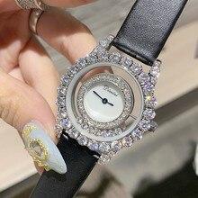 Для женщин подарок Bling Кварцевые часы модные повседневное женские блестящие часы платье с кристалалми и стразами