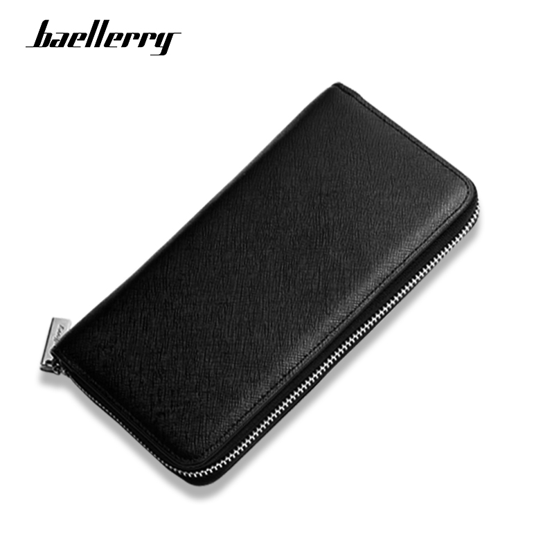 Baellerry Soft PU Leather Wallet Men Long Hight Quality Purse Male Passport Card Holder Multi-function Fashion Casual Zipper