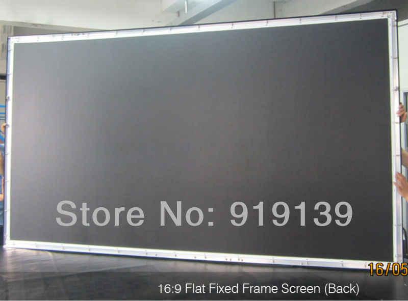 Huge Cinema Screen 160 Inch Flat Fixed Frame Diy Projection Screen 3d Projector Screen Fabric 16 9 Ratio
