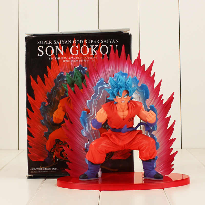 20 cm Filho Dragon Ball Z Super Saiyan Goku action figure toy modelo SSGSS Cho Gi Shin Den Kaioken Azul collectible modelo para meninos