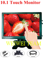 10.1 LCD 1280p Capacitive Touch Monitor Mini TV & Computer Display Color Screen Security Monitor With Speaker VGA HDMI