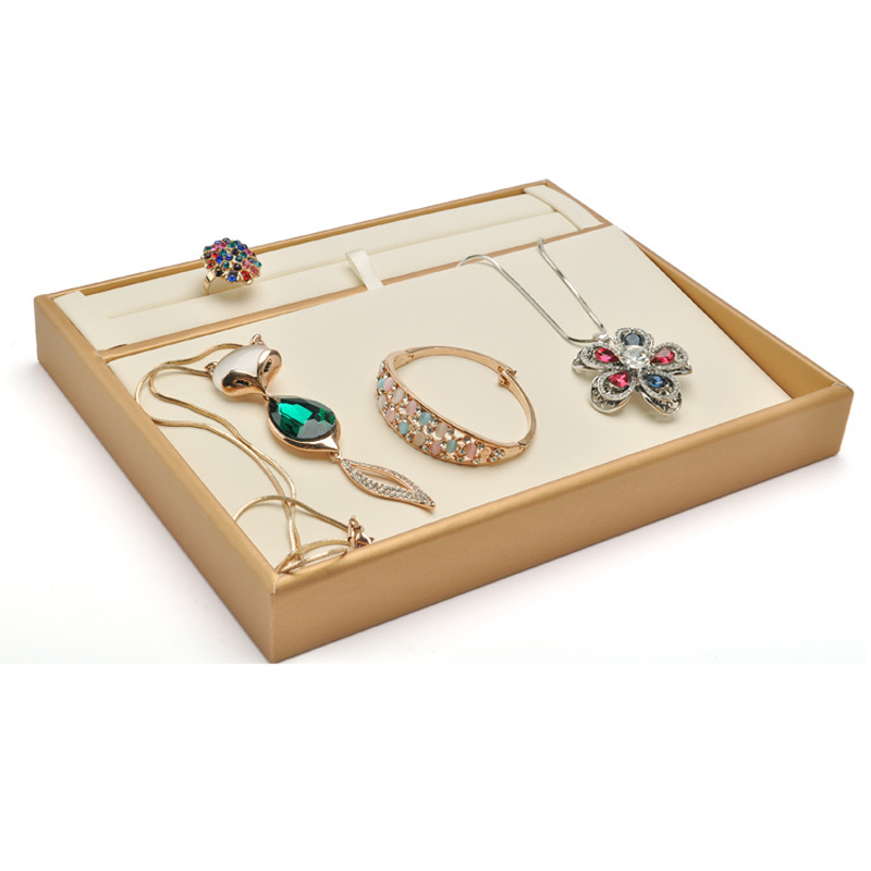 new fashion high quality jewelry trays jewelry display holder bracelet ring earring box case jewelry storage