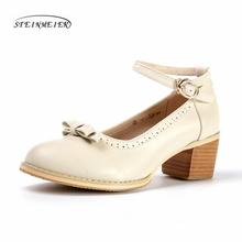 women summer leather oxford sandals big woman US 9 shoes round toe handmade pink white black 2017 oxfords for