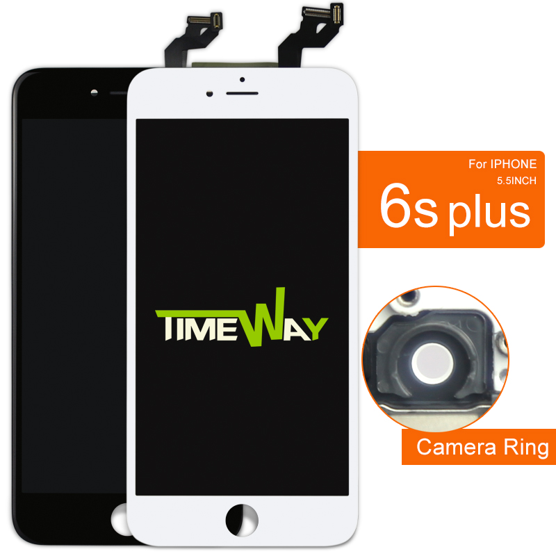 DHL 10pcs For iPhone 6S plus LCD Display Touch Screen with Digitizer Assembly Black White Color with Warranty