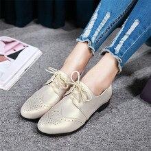 Зашнуровать Ботинки Женщин Оксфорды Обувь Мокасины Квартиры Женщины Случайные Плоские Туфли качество Плюс Размер 34-40 41 42 43 44 45 46 47 48