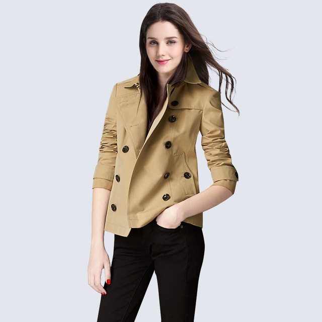 201906282 Europe and United States new women's fashion slim short double breasted  coat-in Trench from Women's Clothing & Accessories on Aliexpress.com |  Alibaba ...