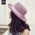 Vintage Hand Woven Bow Big Brim Beach Hat Female Summer Women Adult Casual Solid Straw Hat Ladies Female Sun Cap B-4706