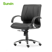 Black Office Chair Ergonomic Boss Chairs Middle Back Computer Chairs Leather Game Chair High Quality Armrest 5 Supportive Feet