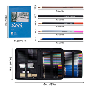 Image 5 - 71pcs/set Professional Sketching Drawing Pencil Kit Art Painting Tool Student Black  for Sketching Drawing and Writing