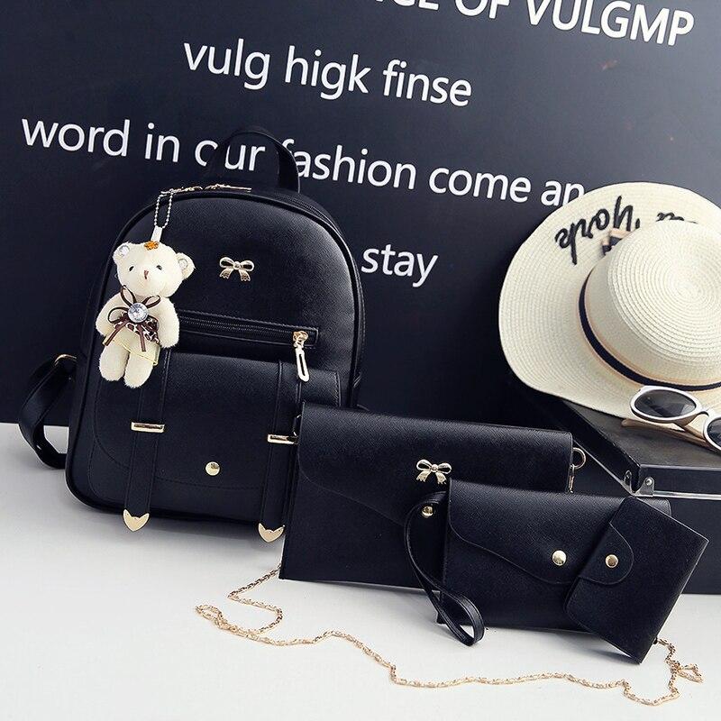 c19cf2e7bb Femmes sacs à dos mode sac à bandoulière en cuir synthétique polyuréthane couleur  unie petit sac à dos en relief sacs d'école pour fille Composite Bagpack ...