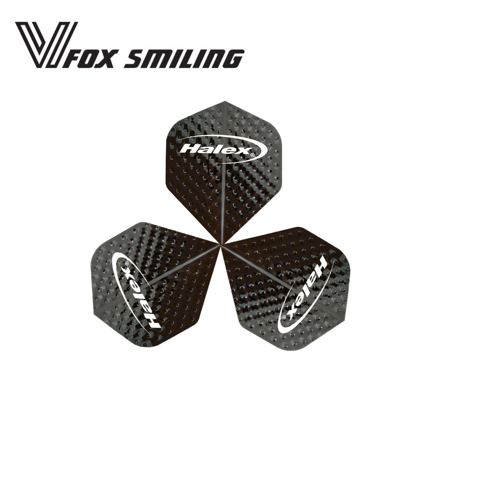Fox Smiling 30pcs Black Pattern 2D Cool Standard Dart Flights Nice Darts Accessories Dardos Feather Leaves Wings Tail