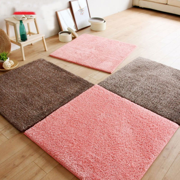 31.50 Inch Blending Color Living Room Carpet Memory Foam Mats Puzzle Mat  Soft Shaggy Rug Baby