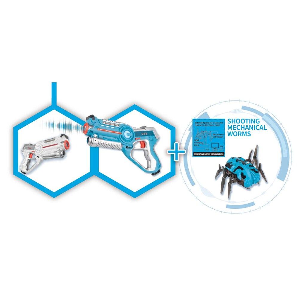 2 pièces Laser infrarouge Tag Blaster Laser Bataille Pack avec Mécanique Vers Intérieur et Extérieur Activité Familiale pour Enfants et Adultes - 3
